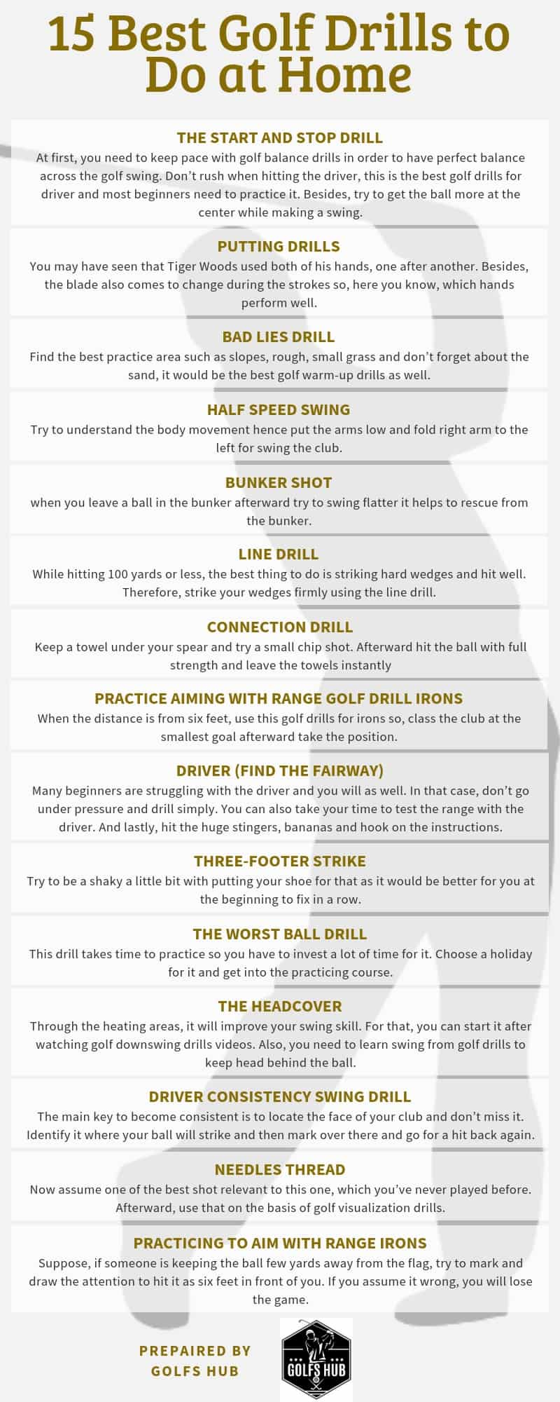 Best Golf Drills to Do at Home