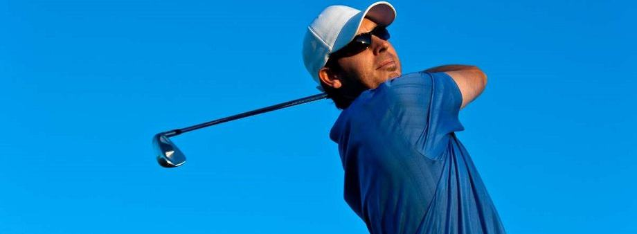 Playing golf with prescription glasses