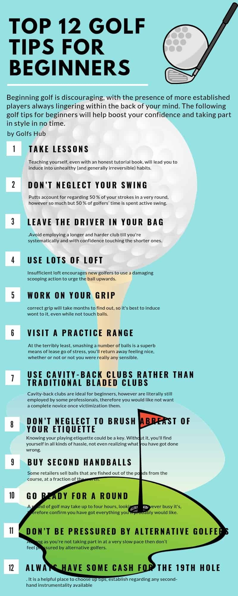 Top 12 Golf Tips for Beginners