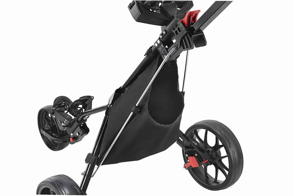 best 3 wheel golf push cart