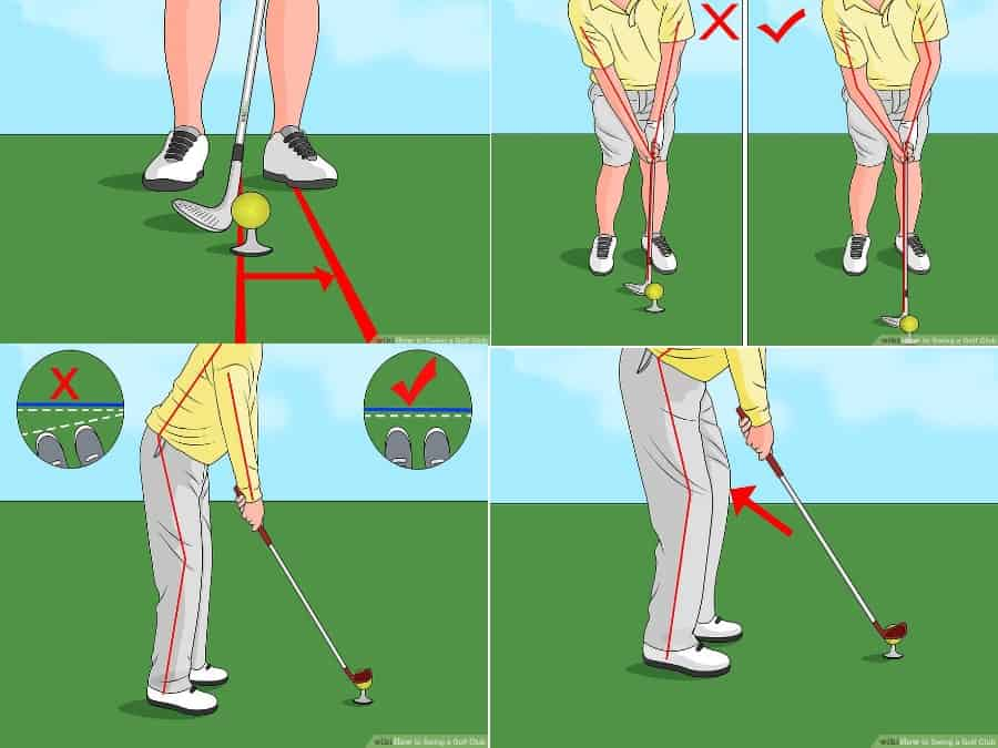 how to swing a golf club faster- stance