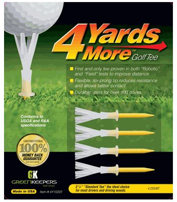 4 Yards More Golf Tee -2 3-4 inch