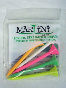Martini Golf Tees (3.25Multi Color5pk)
