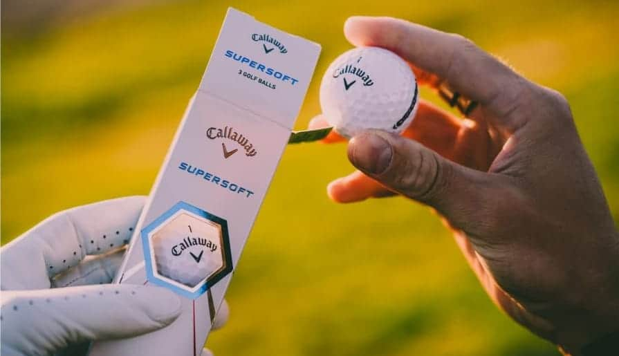 callaway supersoft golf balls compression