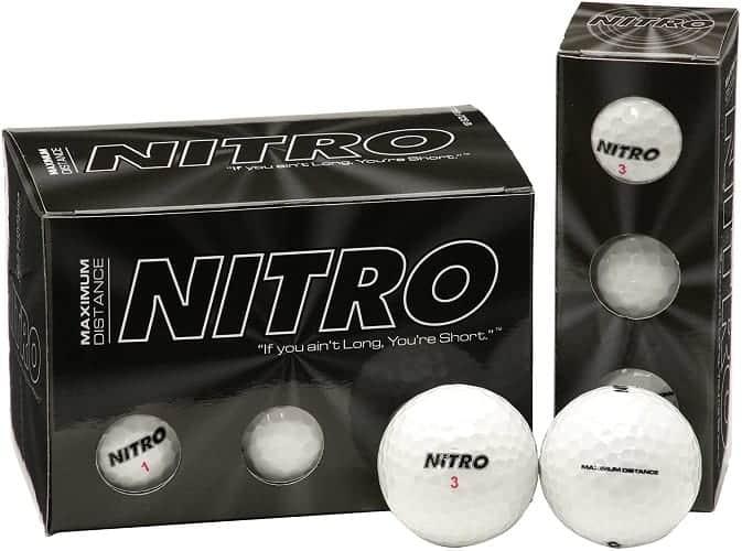 nitro maximum distance golf balls d