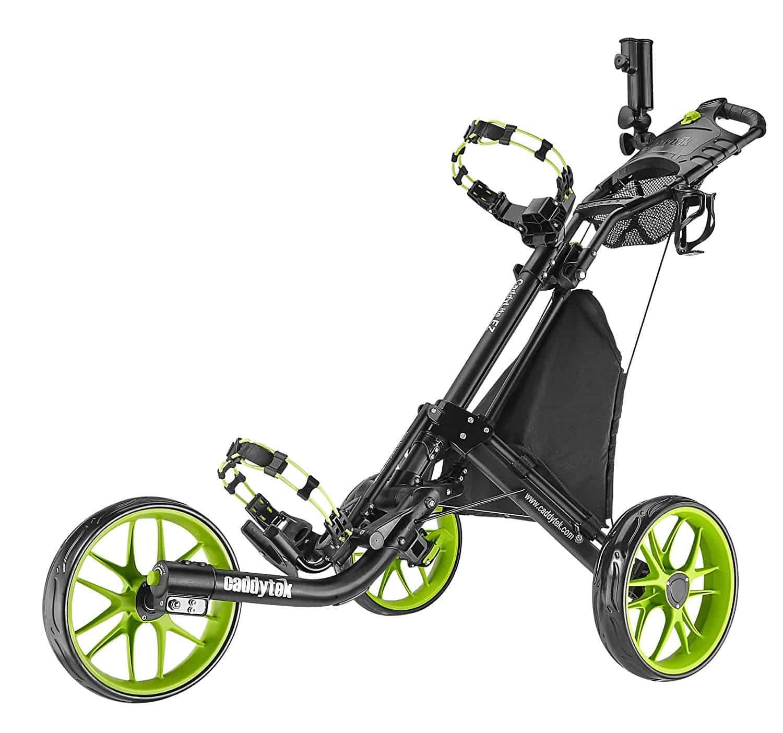 caddytek ez-fold 3 wheel golf push cart review