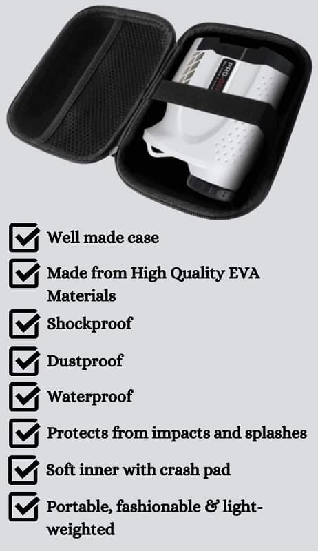 FitSand Hard Case for Gogogo Laser Rangefinder