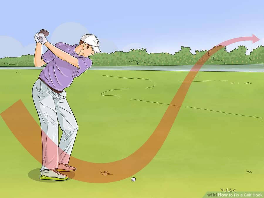 golf hooking the ball - Push hook