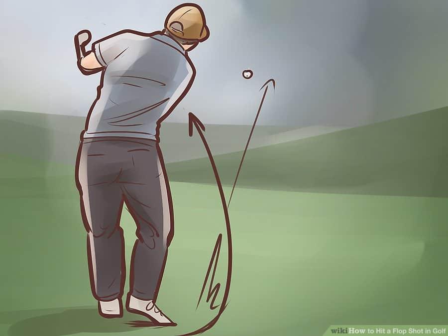 Golf Lob shot technique