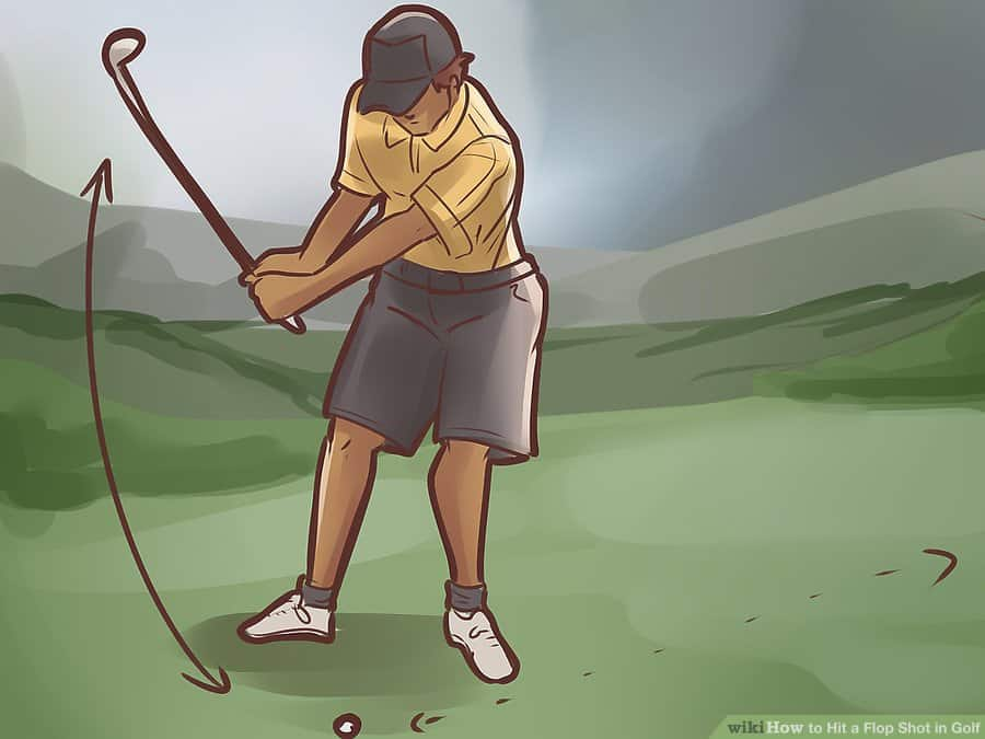 how to hit a flop shot with a sand wedge