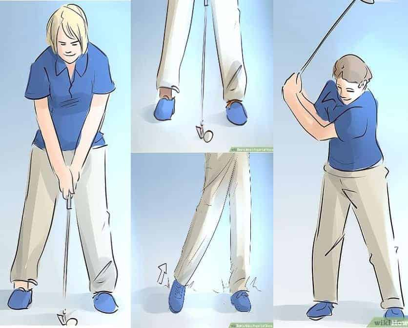 how to make a proper golf stance easily
