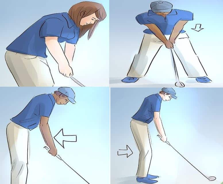 the Proper golf posture and stance