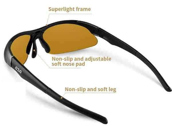 O2O Polarized Golf Sunglasses