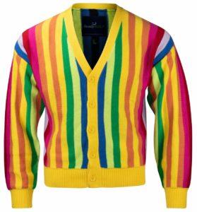 Al Czervik Mens Rainbow Sweater