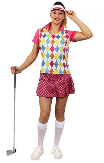 Ladies Golf Costume Fancy Dress