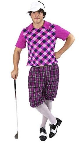 Orion Costumes Mens Tartan Pub Golf Golfer Stag Fancy Dress Costume