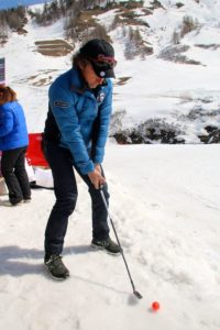 Playing Golf in the winter