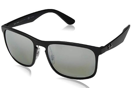 Ray-Ban RB4264 Chromance Mirrored Square Sunglasses