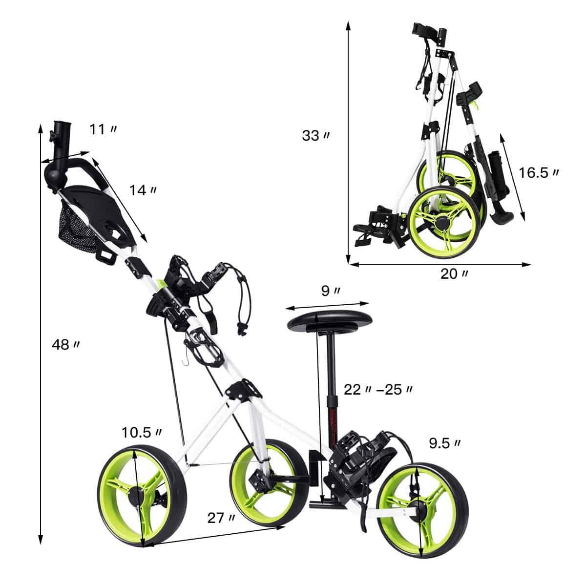 Tangkula Push Cart