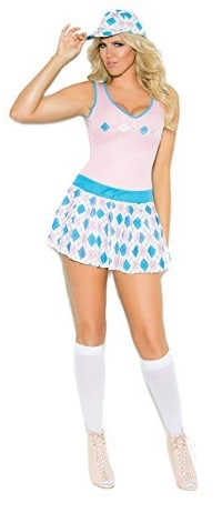 Zabeanco Sexy Women's Golf Tease Role Play Halloween Costume