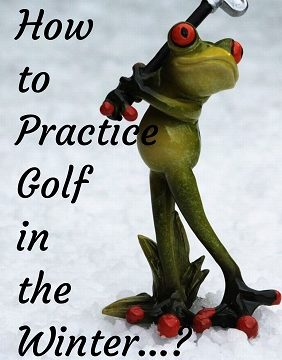 practicing golf in the winter
