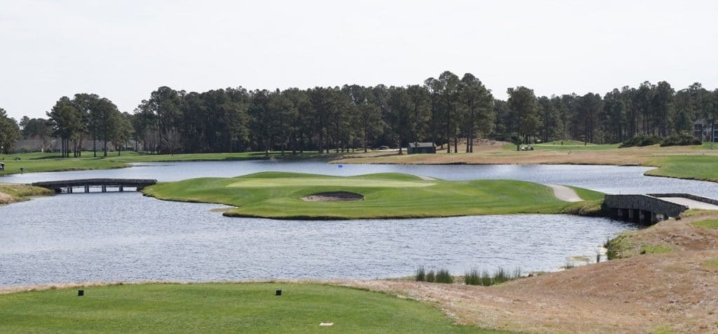 17th hole of the Wizard Golf Club, Myrtle Beach, South Carolina