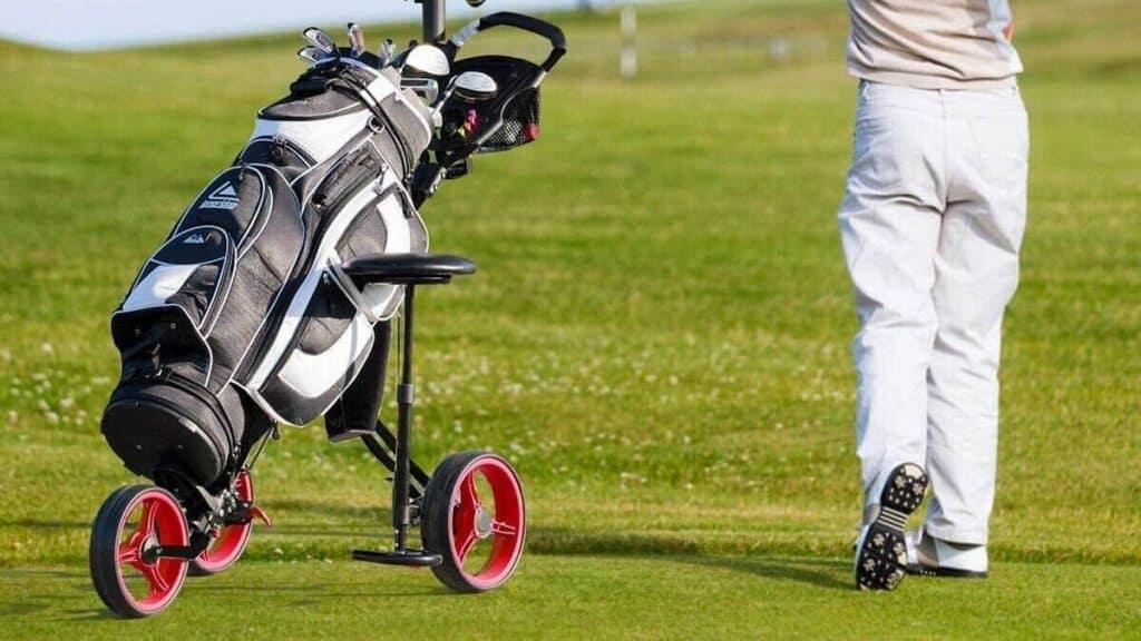 Tangkula Deluxe Steel Golf Push Cart