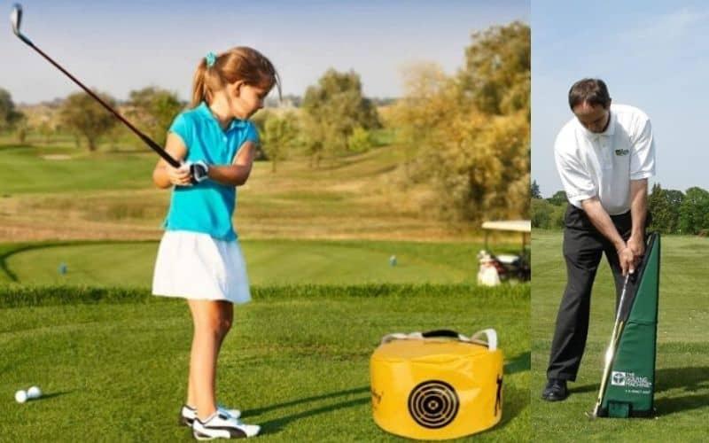 homemade golf impact bag