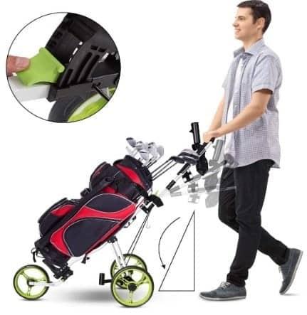 Gymax 3-wheel pushcart