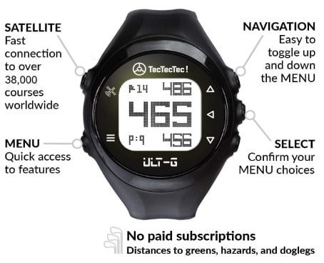 tectectec ult-g gps golf watch