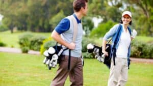 Is carrying your golf bag bad for you