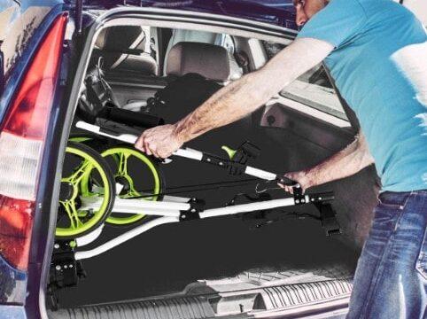 how to close a golf push cart