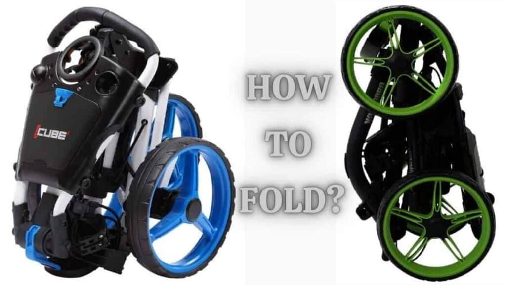 how to fold a golf push cart
