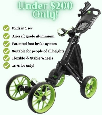 Kingdely 4 Wheel Golf Push Cart