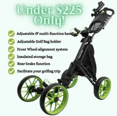 MEARTEVE 4 Wheel Golf Push Pull Cart