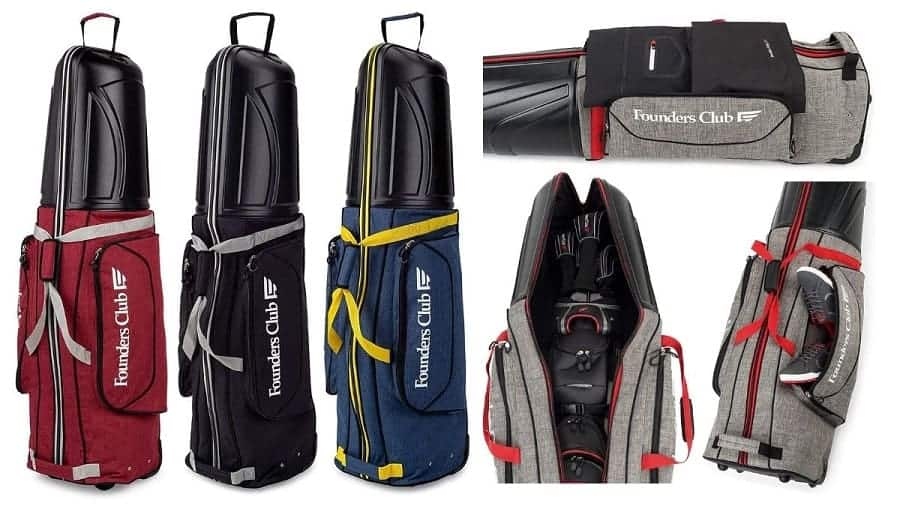 founders club Hard shell top golf travel bag