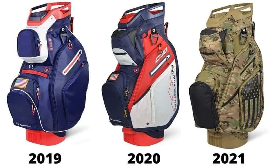 sun mountain c130 cart bag 2019 vs 2020 vs 2021 version
