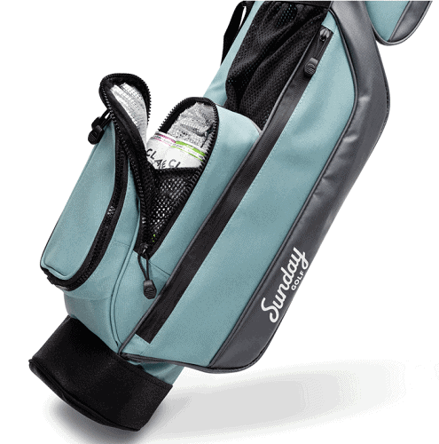 sunday golf bag with stand