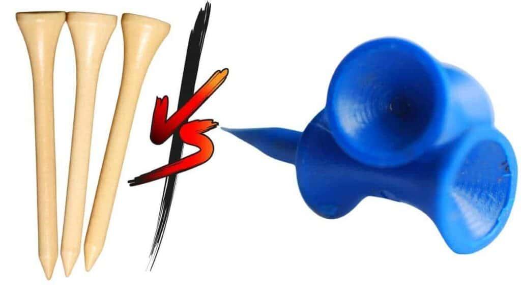 wooden tees vs plastic tees