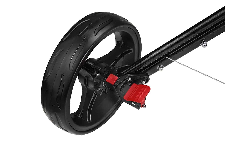 CaddyTek SuperLite Deluxe Golf Push Cart-wheel