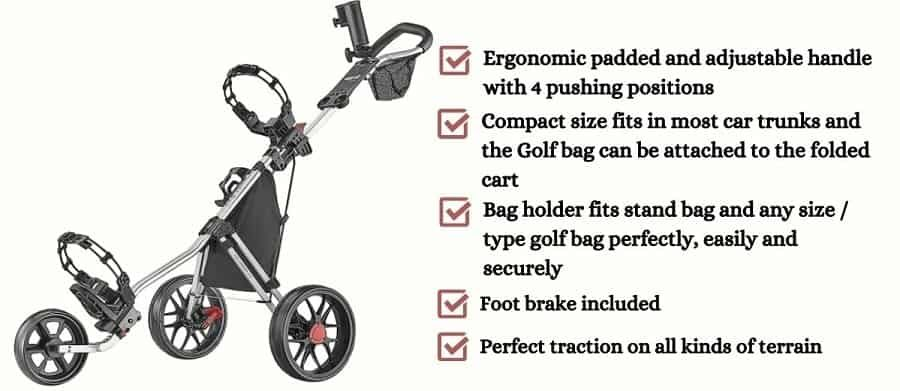 Caddytek Caddylite 11.5 V3 Deluxe Golf PushCart reviews