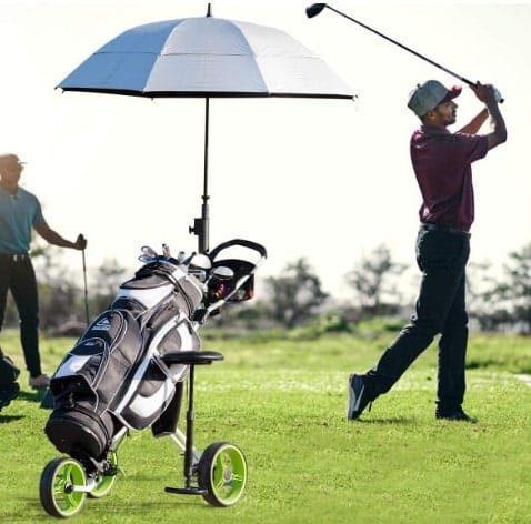 Gymax 3 Wheel Golf Push Cart Review