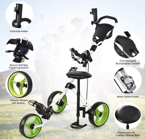 Gymax Golf Push Cart Review