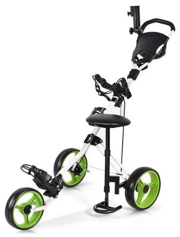 Gymax Golf Push Cart
