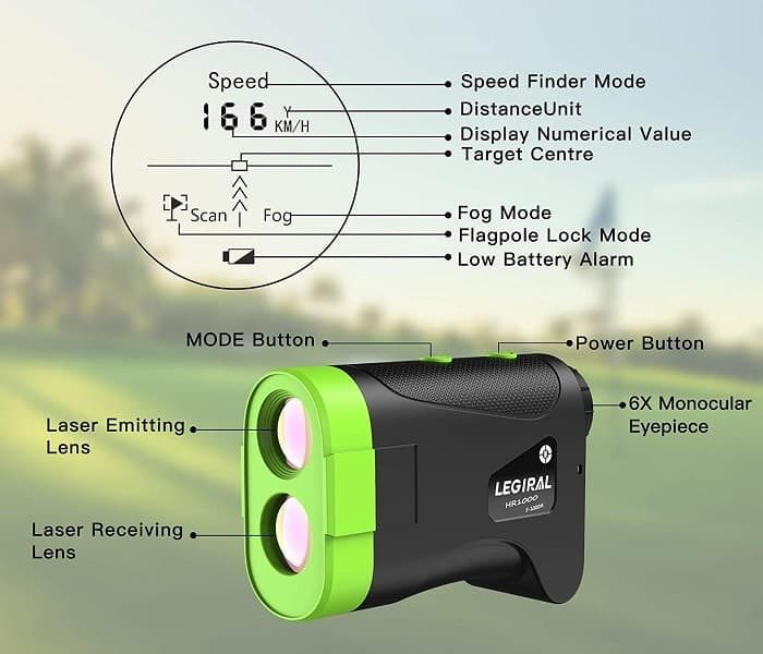 Key specifications of Legiral Golf Rangefinder