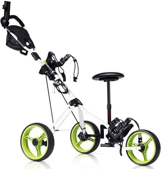 TANGKULA Swivel Push Pull Golf Trolley