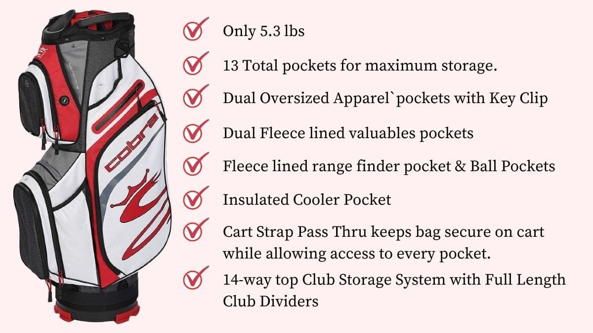 cobra ultralight cart bag review