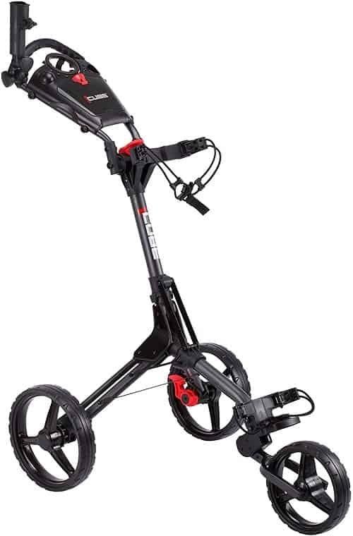 cube cart 3 wheel push pull golf cart