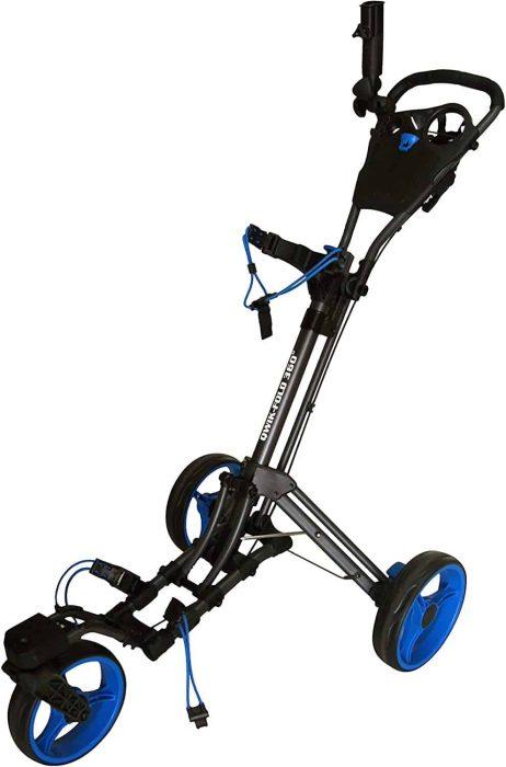 qwik fold 360 swivel 3 wheel golf cart